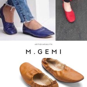 M. Gems The ora Brown leather flats